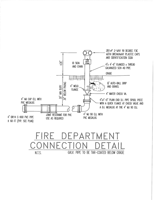 Fire Department Connection Detail
