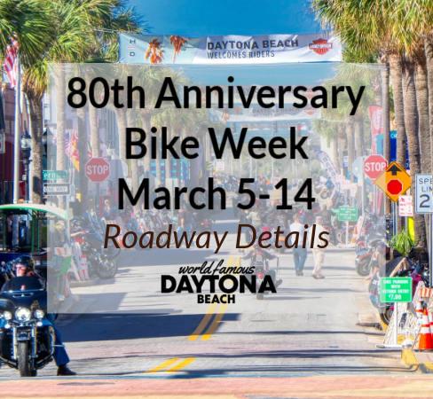 Daytona Beach Main Street during Bike Week
