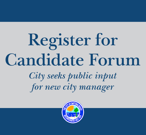 Invitation to City Manager Candidate Forum